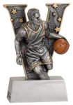 Male Basketball V Series Resin Basketball Trophies