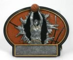 Burst Thru Basketball Trophy (Female) Basketball Trophies