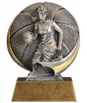 Basketball 3D Motion Trophy (Female) Basketball Trophies