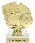 Wreath Basketball Award Basketball Trophies