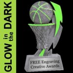 GLOW in the DARK Basketball Trophy Basketball Trophies