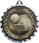 Diamond Cut Basketball Medal Basketball Trophies
