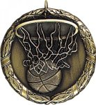 Wreath Basketball Medal Basketball Trophies