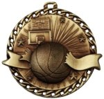 Burst Thru Basketball Medal Basketball Trophies