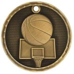 3D Basketball Medal Basketball Trophies