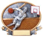 Basketball 3D Oval Trophy (Male) Basketball Trophy Awards