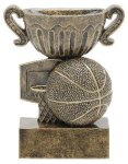 Sport Cup Basketball Antique Gold Basketball Trophy Awards