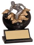 Male Bowling Xploding Resin Bowling Trophies