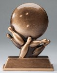 Bronze Resin Bowling Trophy Bowling Trophies
