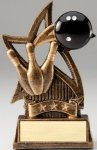 Star Series Sculpted Antique Gold Bowling Resin Trophy  Bowling Trophies