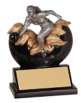 Female Bowling Xploding Resin Bowling Trophy Awards