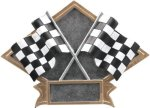 Racing Diamond Plate Resin Car Show Trophies