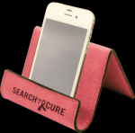Pink Leatherette Easel/Holder Cell Phone Covers & Holders