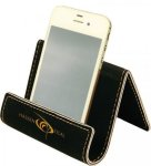 Black Leatherette Holder/Easel Cell Phone Covers & Holders