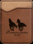 Dark Brown Leatherette Phone Wallet Cell Phone Covers & Holders