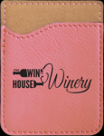 Pink Leatherette Phone Wallet Cell Phone Covers & Holders
