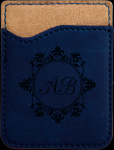 Blue Leatherette Phone Wallet Cell Phone Covers & Holders