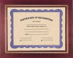 Burgundy Certificate Holder Certificate Plaques