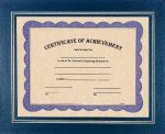 Blue Certificate Holder Certificate Plaques