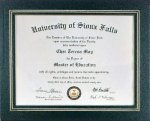 Black Certificate Holder Certificate Plaques