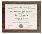 Cherry Finish Slide in Photo/Certificate Frame Plaque Certificate Plaques