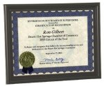 Bull Nose Edge Certificate Frame Certificate Plaques