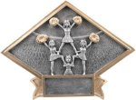 Cheer Diamond Plate Resin Cheerleading Trophies