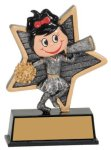 Female Cheer Little Pals Resin Trophy Cheerleading Trophies