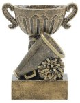 Sport Cup Cheerleading Antique Gold Cheerleading Trophies