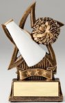 Star Series Sculpted Antique Gold Cheer Resin Trophy  Cheerleading Trophies