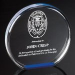 Reflective Round Acrylic Award Clear Acrylic Awards