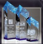 Glacier Acrylic Award Blue Clear Acrylic Awards