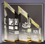 Glacier Acrylic Award Gold Clear Acrylic Awards