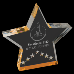 Gold Star Performance Acrylic Clear Acrylic Awards