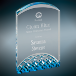Horizon Blue Acrylic Award Clear Acrylic Awards