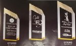 Diamond Ridge Gold Acrylic Award Clear Acrylic Awards