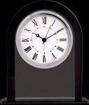 Black/Clear Glass Clock Clocks - Desk