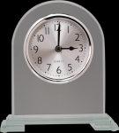 Arch Clear Glass Clock With Split Step Base Clocks - Desk