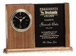 Walnut Award Clock Clocks - Desk