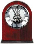 Rosewood Piano Finish Arch Clock Clocks - Desk
