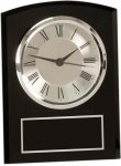 Black Glass Arch Self Standing Clock Clocks - Desk