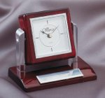Tilting Rosewood Desk Clock Clocks - Desk