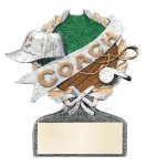 Coach Multi Color Sport Resin Figure Coach Awards