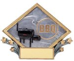 Resin Diamond Plate BBQ Cooking Trophies