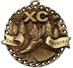 Burst Thru Cross Country Medal Cross Country Medals