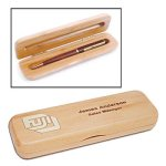 Maple Single Pen Box Desk Pen Sets