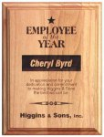 Red Alder Recognition Plaque Direct Engraved Wood Plaques