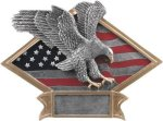 Eagle  Diamond Plate Resin Eagle Trophies
