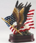 Eagle with American Flag On Base Eagle Trophies