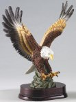 Eagle In Flight On Wood Base Eagle Trophies